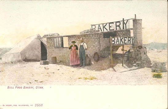 Bull Frog Bakery Postcard- click on image for detail
