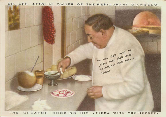Pizza Chef Postcard- click on image for detail